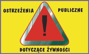 Ostrzeżenia publiczne dotyczące żywności